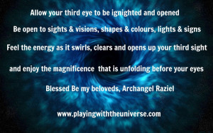 Openingyour Third Eye with Archangel Raziel July 13. 2013