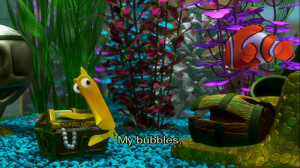 Finding Nemo The Tank Is Clean Quote The sun is shining, the tank