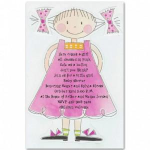 cute purple baby girl shower invitations bs054