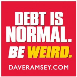Bumper Sticker - Debt is Normal Be Weird