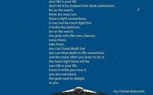 Charles Bukowski quote wallpaper