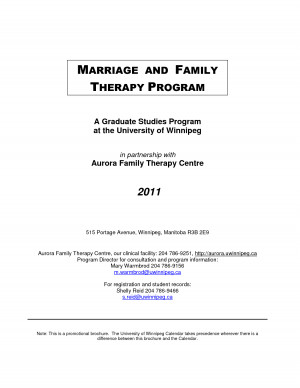 MARRIAGE AND FAMILY THERAPY PROGRAM (PDF) by dfsdf224s