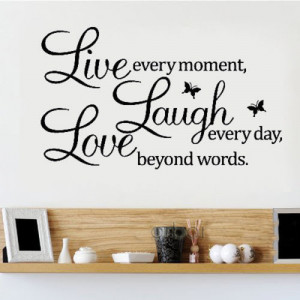 LIVE LAUGH LOVE Wall Quote Stickers Removable Vinyl Decal Home Art ...