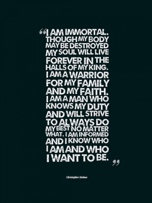 the halls of my King. I am a warrior for my Family and my Faith. I am ...