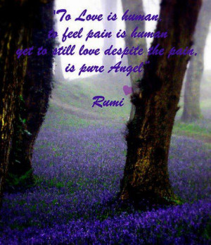 Love Quotes human feel pain despite pure angel