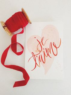 Valentines Day #Greeting #Cards - Je T'aime Watercolor #Heart ...