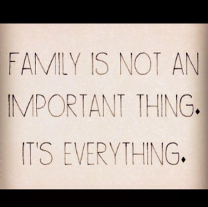 Families stick together. Families care. Families help. They nourish ...