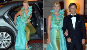 Valeria Mazza lleg a la gala acompa ada del brazo de su marido
