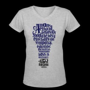 Albert Einstien Quote regarding Religion Women's T-Shirts