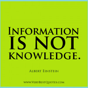 Albert Einstein quotes, knowledge quotes