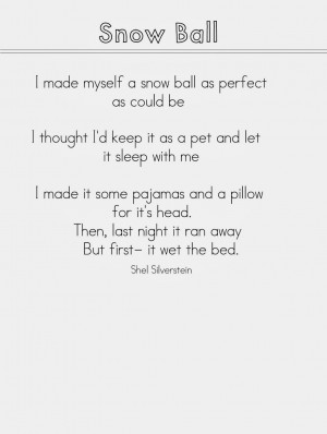 click Here for Snow Poems