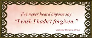 Generosity, forgiveness and sacrifice