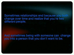 People change over time...
