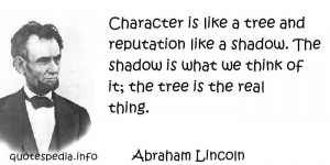 Famous Inspirational Quotes and Sayings about Character