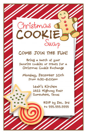 Cookie Swap Party...