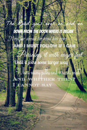 The Road Goes Ever On and On: Bilbo Baggins quote #lotr #fotr #bilbo # ...
