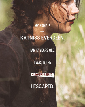 quotes The Hunger Games katniss everdeen jennifer lawrence