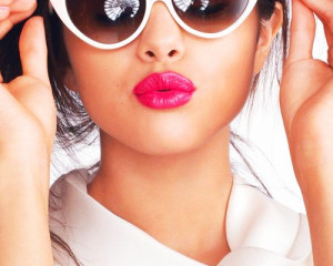 beautiful, fashion, glasses, lip, lipgloss, lips, lipstick, pink, pink ...