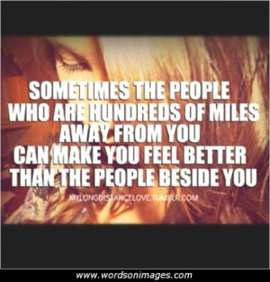 Love and distance quotes
