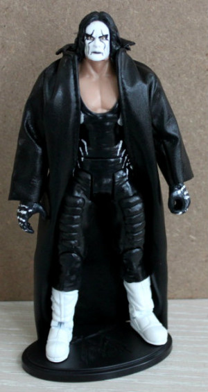 ... Undertaker body,gloves,and coat. Toy Biz WCW Sting head and boots