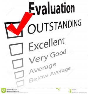 An evaluation for job performance or a grade report card with a 3D ...