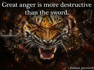 EmilysQuotes.Com - anger, destruction, negative, hate, Indian proverb