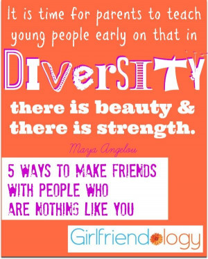 diversity there is beauty and there is strength