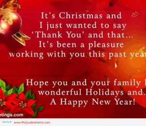 Its Christmas And I Just Wanted To Say Thank You And That Its Been A ...