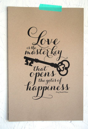 Love is the Master Key Art Print on Etsy, $25.00