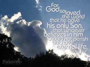 John 3 16 Bible Verse Background Wallpapers