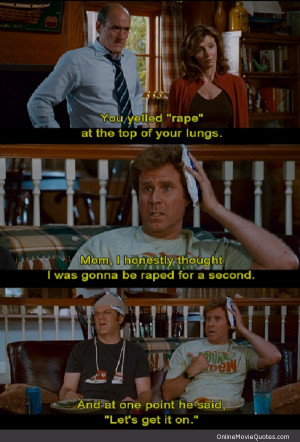super funny quote from a scene in the comedy movie Step Brothers ...
