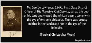 Percival Christopher Wren Quote