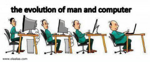 Funny Pictures-Reality-Evolution-Man-Computer-Funny Images-Photos