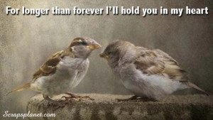 For longer than forever ill hold you in my heart love quote