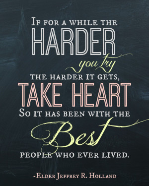 Chalkboard – The Harder You Try Quote