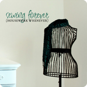Sewing Quotes for Walls