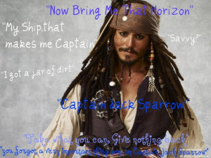 Pirates of the Caribbean Captain Jack Sparrow Quotes