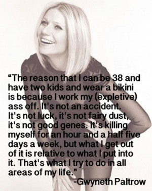 Gee, that makes sense! :) Put this quote next to Kate Moss'