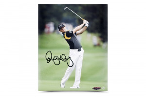 Rory McIlroy Autographed Approach Picture