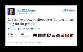 THE WILL FERRELL TWEET (NOT):