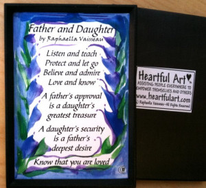 FATHER DAUGHTER MAGNET Quotation Words Family Poem Heartful Art by ...