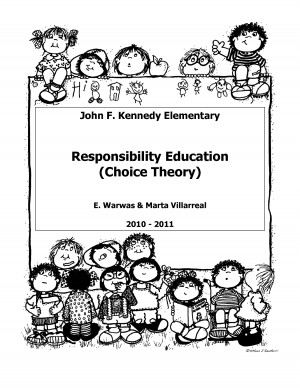 William Glasser Choice Theory Worksheets
