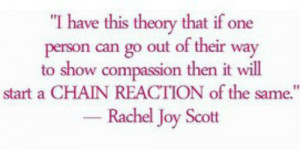 Rachel Joy Scott Quotes About rachel including her