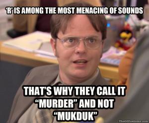 Dwight murder Meme