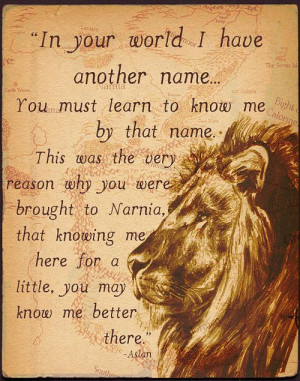 ... story of Narnia and the character Aslan is actually Jesus Christ