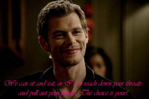 klaus mikaelson quotes vampire diaries season 3 best character quotes ...