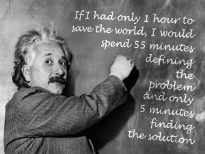 Problem solving ... - Quote by Einstein