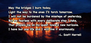 ... to burning bridges is don t burn bridges because you ll become an