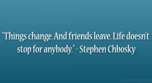 Stephen Chbosky Quote