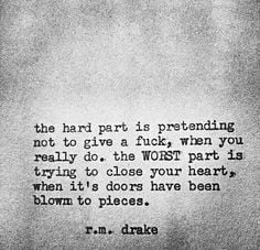 ... rm drake quotes rmdrk phrases quotes things r m drake broken heart r